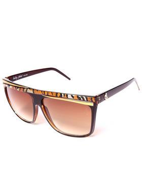 Baby Phat - Flat Top Animal Trim Sunglasses