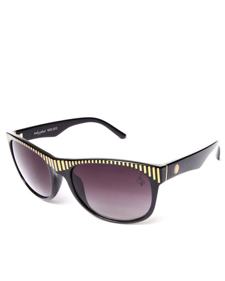 Baby Phat Women Gold Laser Top Rim Sunglasses Black