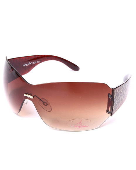 Baby Phat Women Sexy Shield Sunglasses Brown