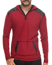Buyers Picks - Pullover Hoody w/ Shoulder Panel Faux leather detail