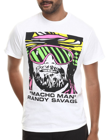 Graf-X Gallery - Men White Macho Man S/S Tee