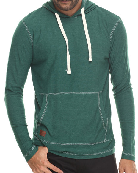 Buyers Picks - Men Green Kangaroo Pocket Pullover Hoody Sweatshirt - $27.99