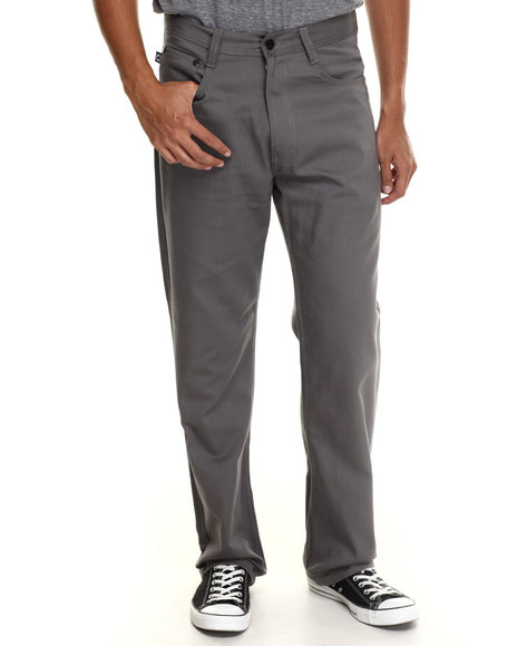 Akademiks - Men Grey Culture Color Twill Pants - $41.99