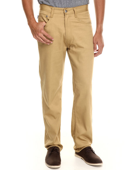 Akademiks - Men Khaki Culture Color Twill Pants