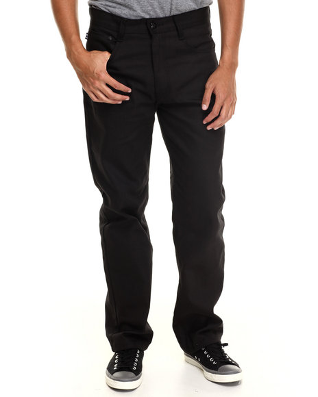 Akademiks - Men Black Culture Color Twill Pants