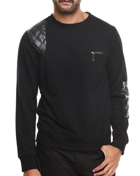 Akademiks - Men Black Crosby Crewneck Sweatshirt