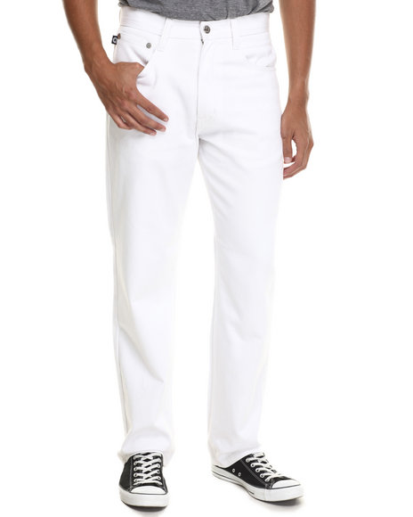 Akademiks - Men White Culture Color Twill Pants