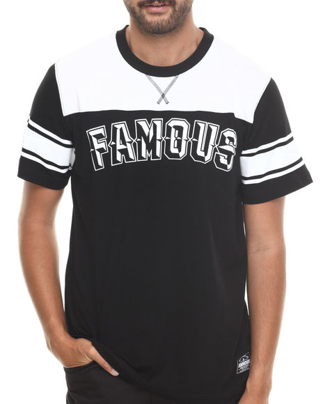 Famous Stars & Straps Black Halfback Short Sleeve Tee