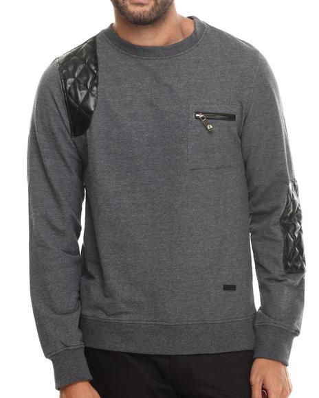 Akademiks - Men Charcoal Crosby Crewneck Sweatshirt - $18.99