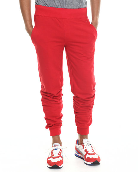 Basic Essentials - Men Red Harem French - Terry Joggers