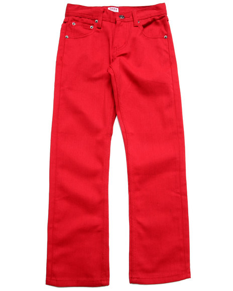 Parish - Boys Red Overdye Jeans (8-20)