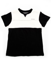 Boys - Faux Leather & Mesh Tee (4-7)