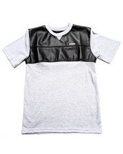 Boys - Faux Leather & Mesh Tee (8-20)