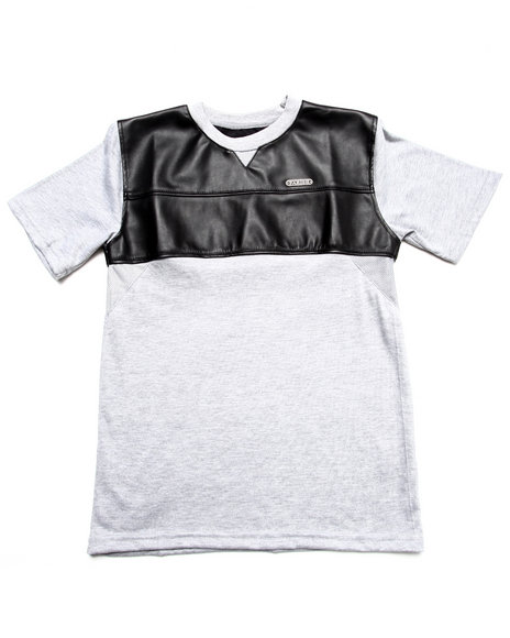Parish - Faux Leather & Mesh Tee (8-20)