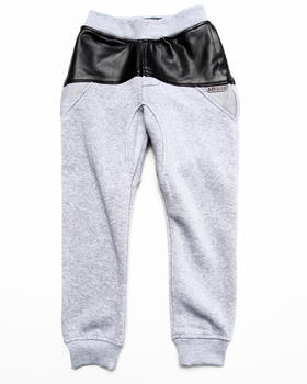 Parish - Faux Leather & Mesh Sweat Pants (4-7)