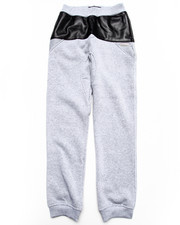 Bottoms - Faux Leather & Mesh Sweat Pants (8-20)