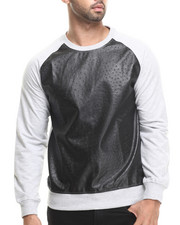 Men - Downing Crewneck sweatshirt w/ Faux Ostrich detail
