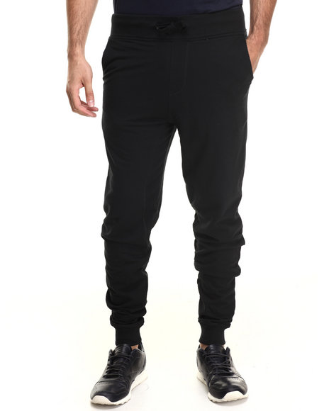 Akademiks - Men Black Flatland French Terry  Sweatpants