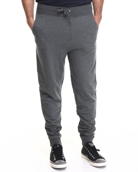 Akademiks - Men Charcoal Flatland French Terry  Sweatpants