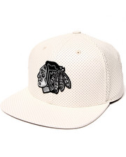 American Needle - Chicago Blackhawks Delirious Faux Perf leather Snapback Hat