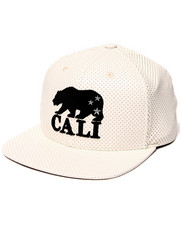 American Needle - California Bear Delirious Faux Perf leather Snapback Hat