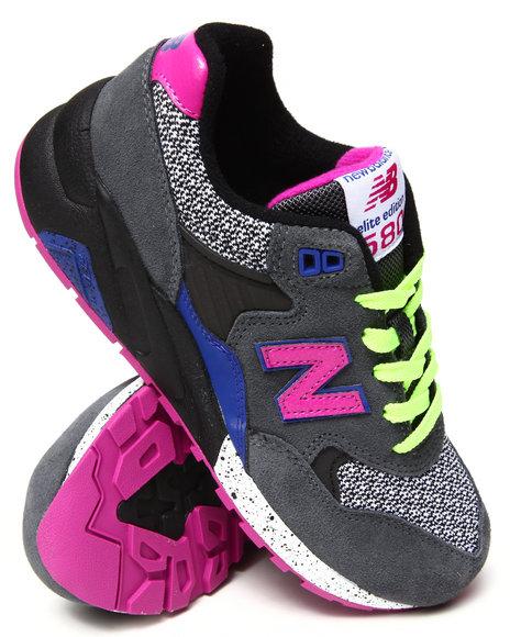 New Balance - Women Black,Grey 580 Elite Edition Sneakers