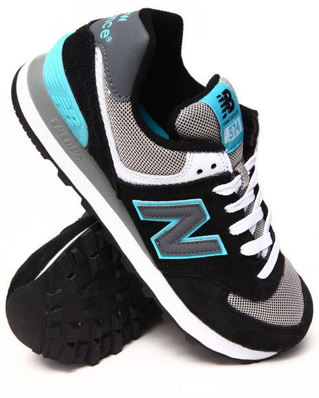New Balance - Women Black,Blue 574 Core Plus Edition Sneakers