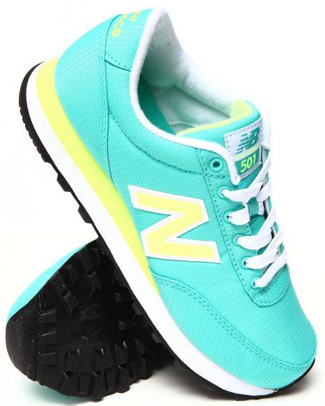 New Balance - Women Teal,Yellow,Teal,Yellow 501 Wind Breaker Sneakers