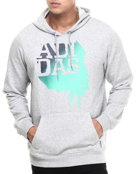 Adidas - Men Grey Cap Split Hoodie - $29.99