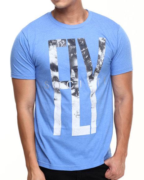 Flysociety - Men Blue Cloud Nine T-Shirt