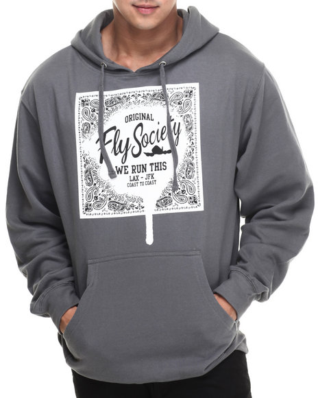 Flysociety - Men Charcoal We Run This Hoodie