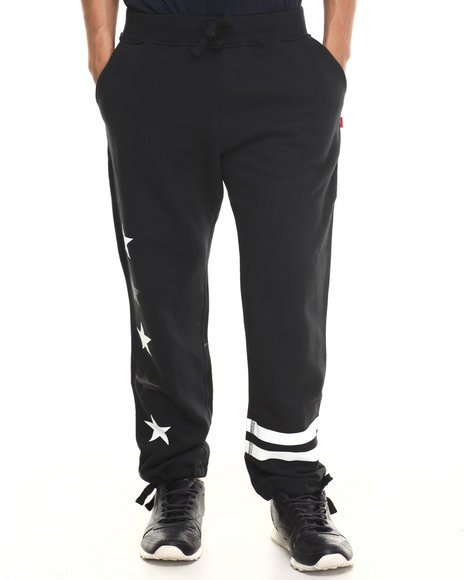 Asphalt Yacht Club - Men Black All Stars Division Fleece Pants
