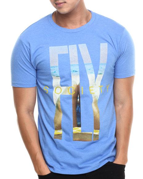 Flysociety - Men Blue The Fly Life T-Shirt