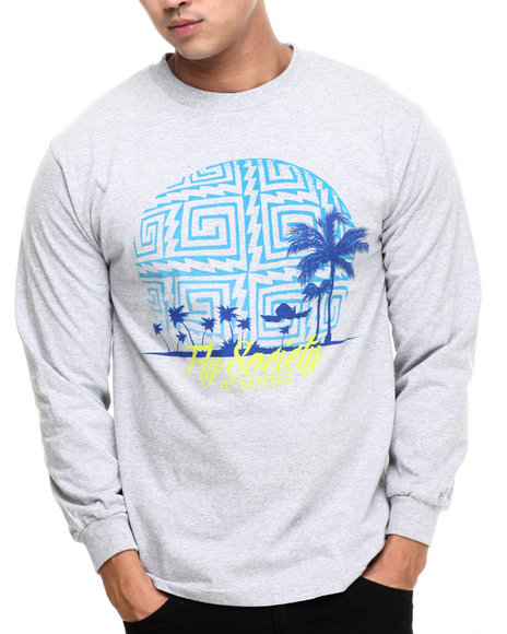 Flysociety - Men Grey Tahitian Sun L/S T-Shirt