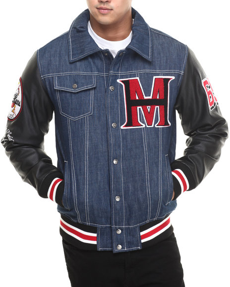 Stall & Dean - Denim/faux leather Jacket (Sherpa lined)