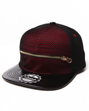 Men - $hit Got Serious Maroon Mesh Overlay Zip Snapback Hat