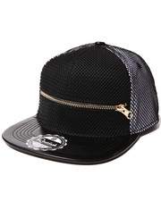 Hats - $hit Got Serious Mesh Overlay Zip Snapback Hat
