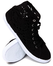 Sneakers - Crochet Detail Lace Up Sneakers