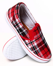 Sneakers - Plaid Slip On Sneaker
