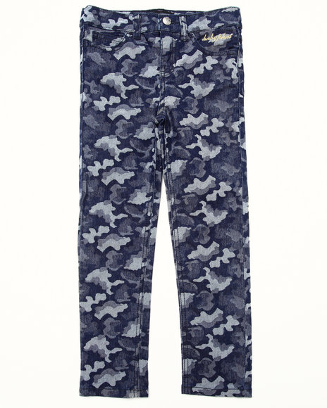 Baby Phat - Girls Dark Wash Camo Jeans (4-6X)