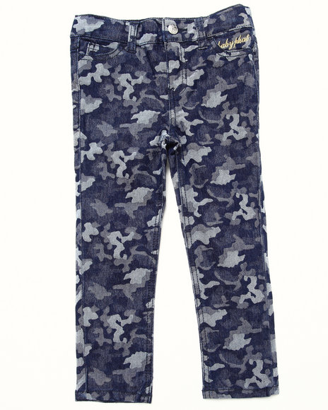 Baby Phat - Girls Dark Wash Camo Jeans (2T-4T)