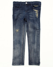 Girls - STUDDED OMBRE JEANS (4-6X)