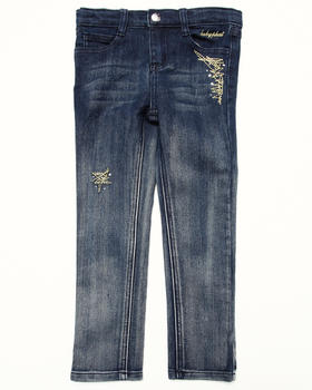 Baby Phat - STUDDED OMBRE JEANS (4-6X)