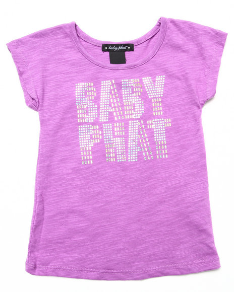 Baby Phat - Girls Violet Studded Logo Top (2T-4T)