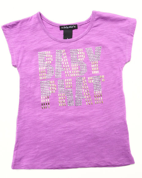 Baby Phat - Girls Violet Studded Logo Top (4-6X) - $9.99