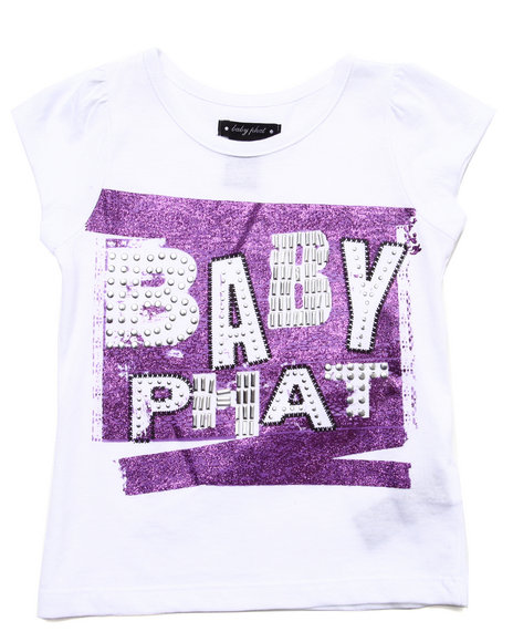 Baby Phat - S/S LACE LOGO TEE (4-6x)