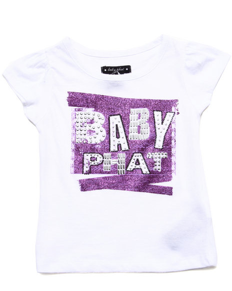 Baby Phat - Girls White S/S Lace Logo Tee (2T-4T) - $7.99