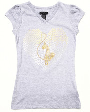 Tops - L/S STUDDED HEART TEE (7-16)
