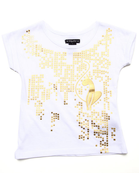 Baby Phat - Girls White Studded Kitty Top (4-6X) - $7.99