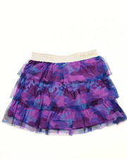 Girls - CAMO MESH TIERED SKIRT (4-6x)